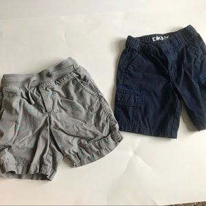 Gap toddler boys pineapple shorts and DNKY shorts